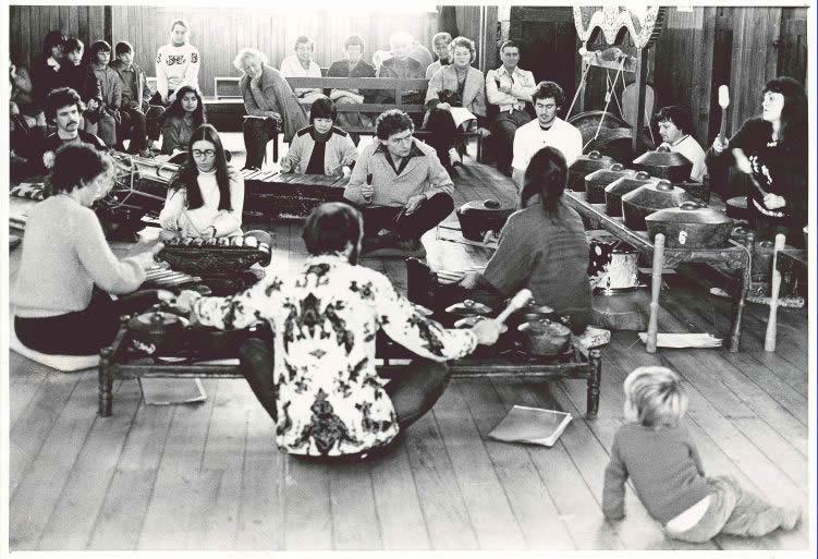 Cirebon gamelan at New Plymouth with Allan